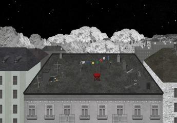 Dach w wielkim mieście
