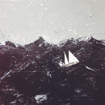 Sailboat under the storm